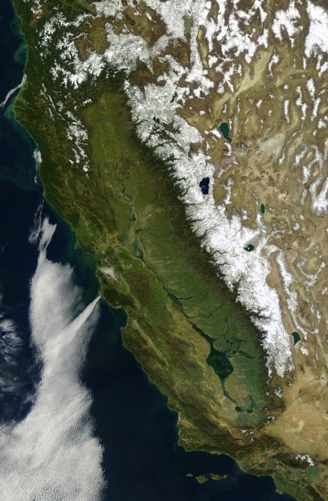 The First Satellite Map Of California (1851) | Accent Ideas - Satellite Map Of California