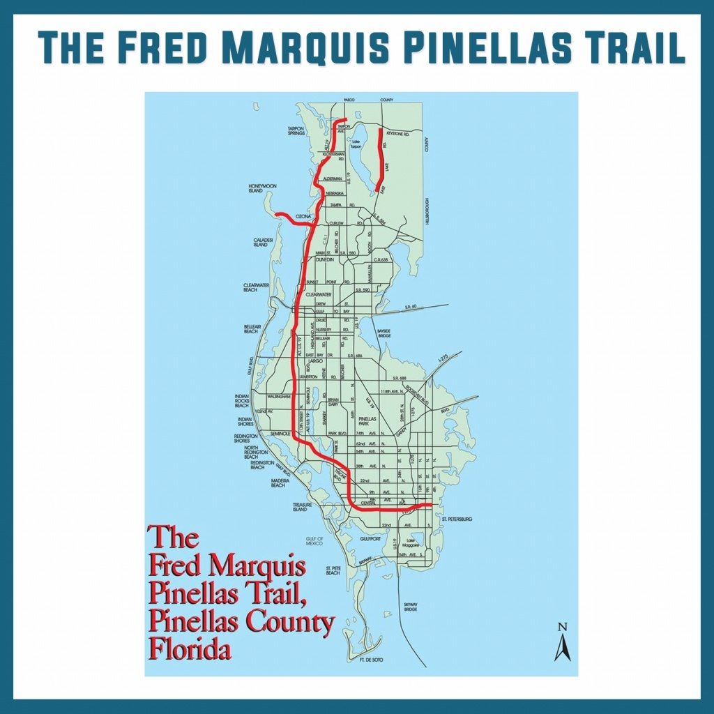 The Fred Marquis Pinellas Trail Bike Trail Tampa Bay University - Pinellas Trail Map Florida