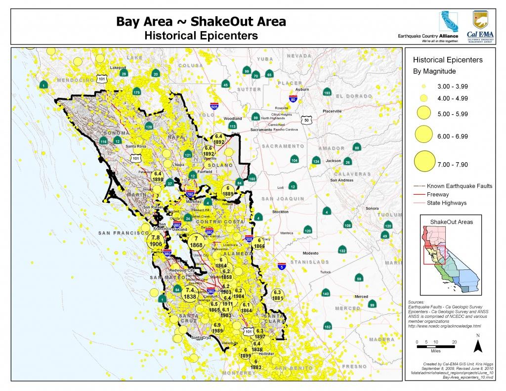 The Great California Shakeout - Bay Area - California Earthquake Map