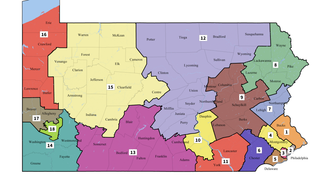 The House Seats In Pennsylvania That Could Flip Under The New Map - Florida Congressional Districts Map 2018