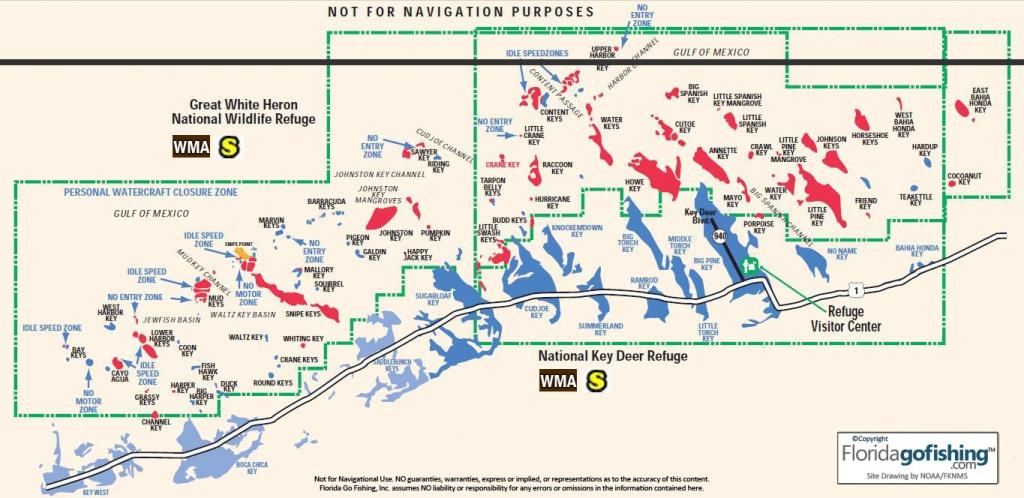 The Keys Upper Monroe County Gps Coordinates Reefs Shipwrecks - Key - Florida Keys Spearfishing Map