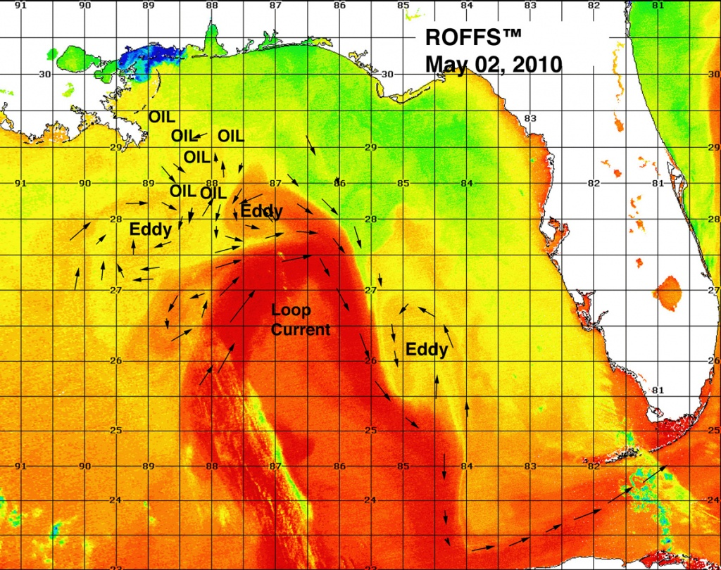 The Loop Current - Florida Water Temperature Map