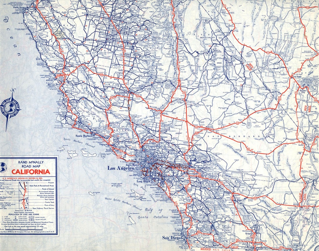 The Lost U.s. Highways Of Southern California History | Kcet - Central California Road Map