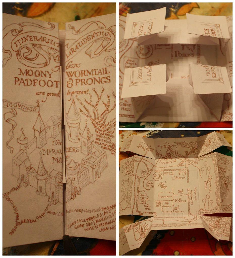 The Marauders Map | Potterlove | Harry Potter Marauders Map, Harry - Marauders Map Template Printable