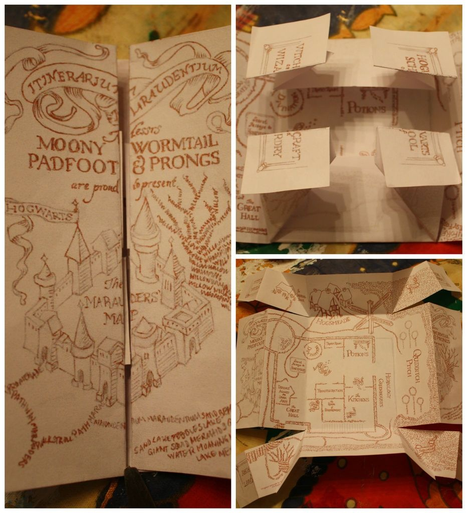 The Marauders Map | Potterlove | Harry Potter Marauders Map, Harry - The Marauders Map Printable