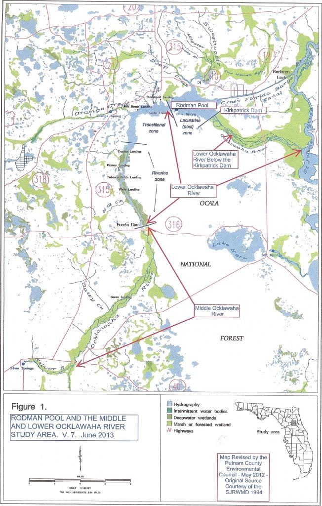 The Ocklawaha Ecosystem | Florida Defenders Of The Environment - Ocklawaha Florida Map