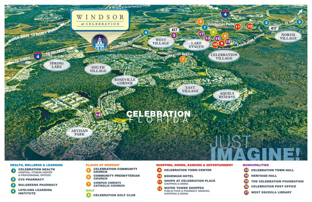 The Perfect Location For Senior Living | Windsor At Celebration - Celebration Florida Map