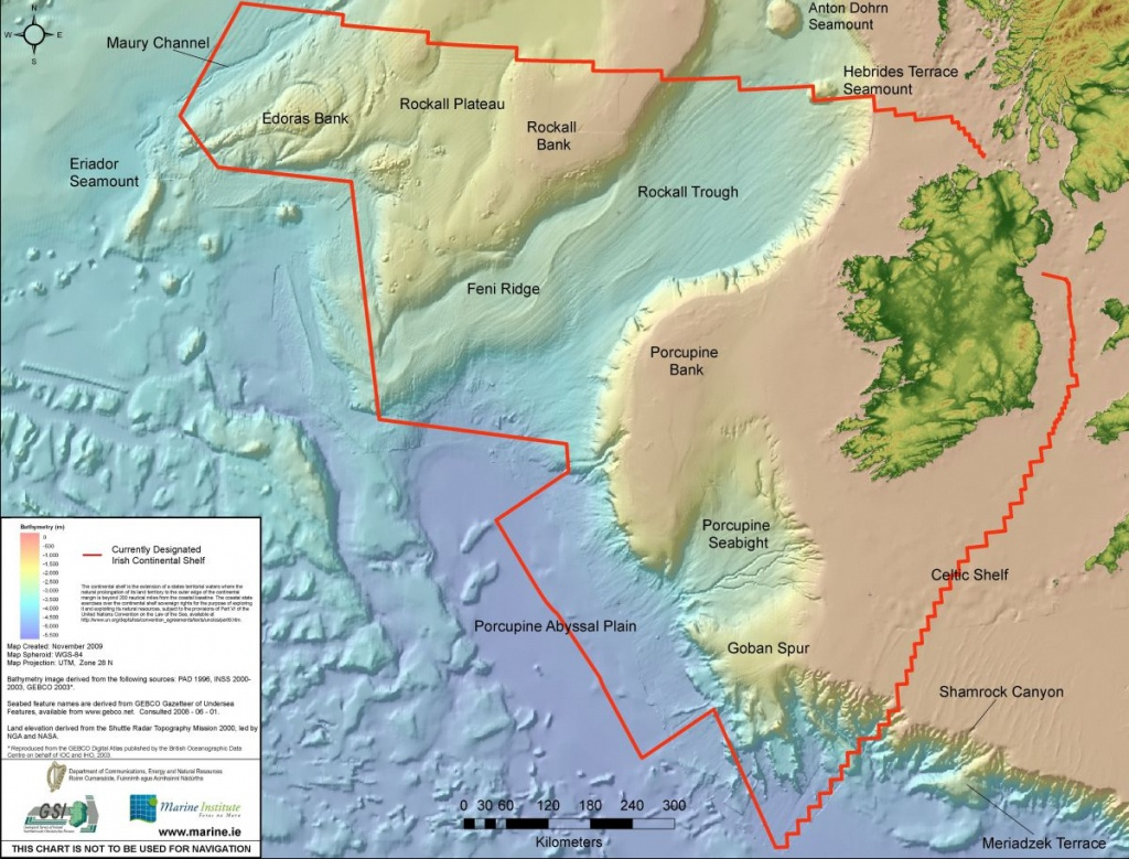 The Real Map Of Ireland | Marine Institute - Florida Marine Maps