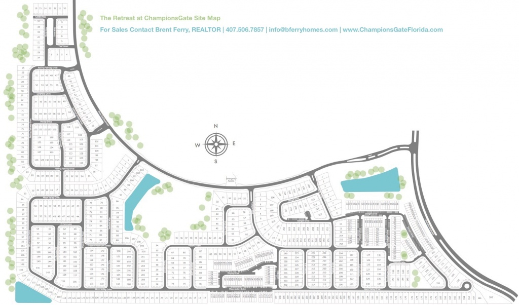 The Retreat At Championsgate For Sale - Champions Gate Homes For - Champions Gate Florida Map