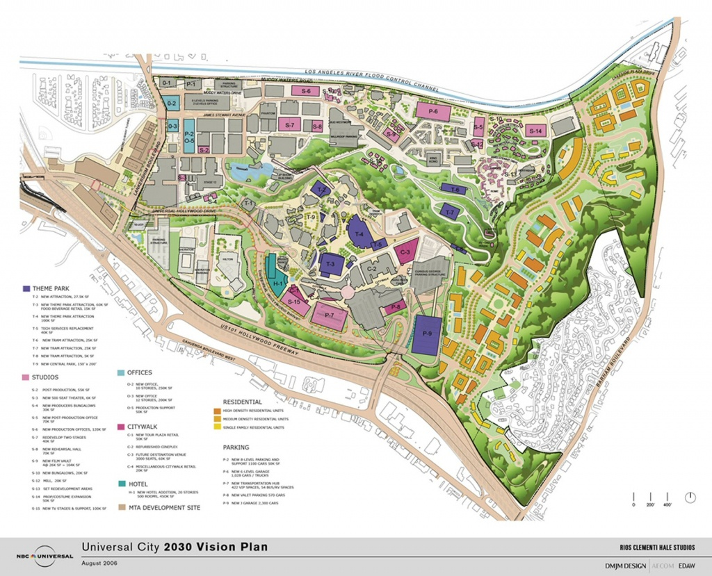 The Studiotour - Universal Studios Hollywood - Universal Vision - Universal Citywalk California Map