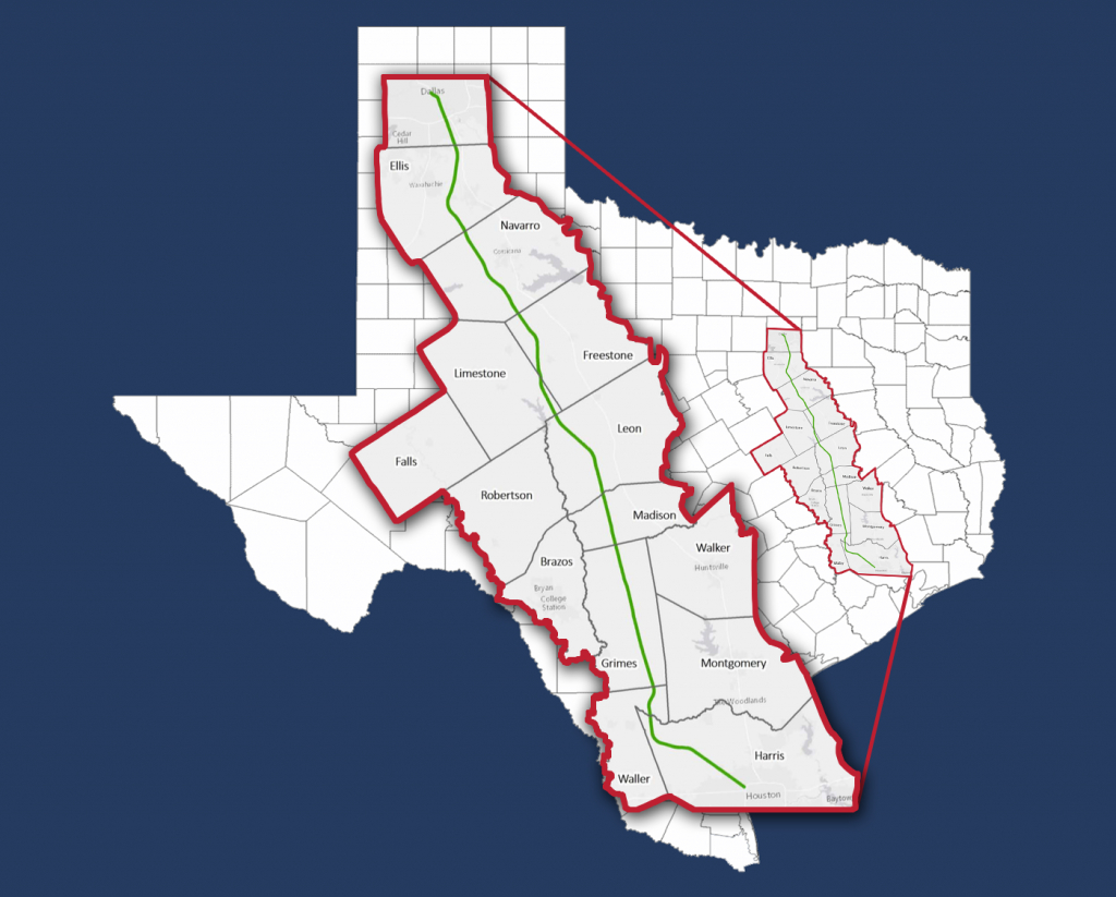 The Texas High-Speed Train — Alignment Maps - Texas State Railroad Route Map
