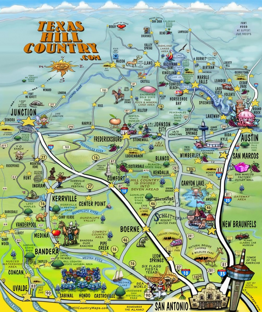 The Texas Hill Country Map - Texas Hill Country Map Pdf