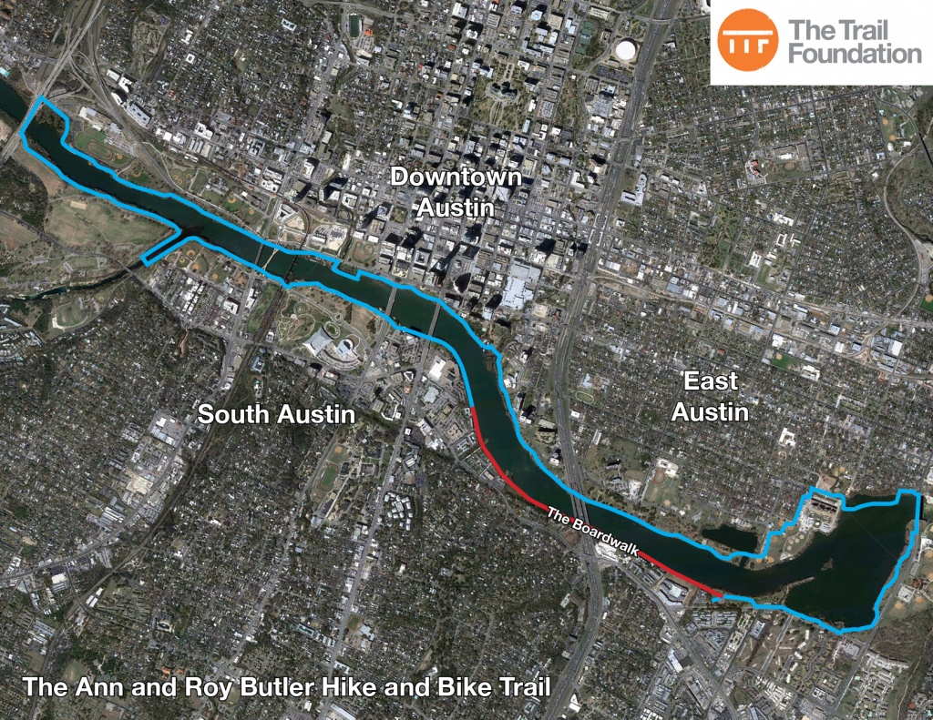 The Trail Foundation About The Butler Trail - The Trail Foundation - Austin Texas Bicycle Map
