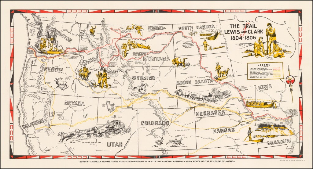 The Trail Of Lewis And Clark 1804 - 1806 - Barry Lawrence Ruderman - Lewis And Clark Expedition Map Printable