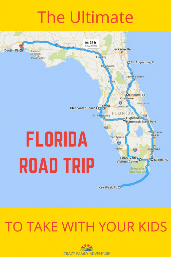 The Ultimate Florida Road Trip: 31 Places Not To Miss   Y Travel - Map Of Northwest Florida Beaches