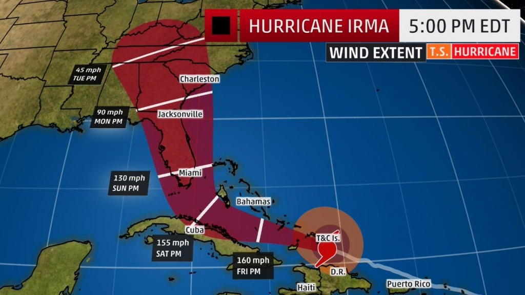 """The Weather Channel On Twitter: """"#irma's Track Has Shifted West - Weather Channel Florida Map"""