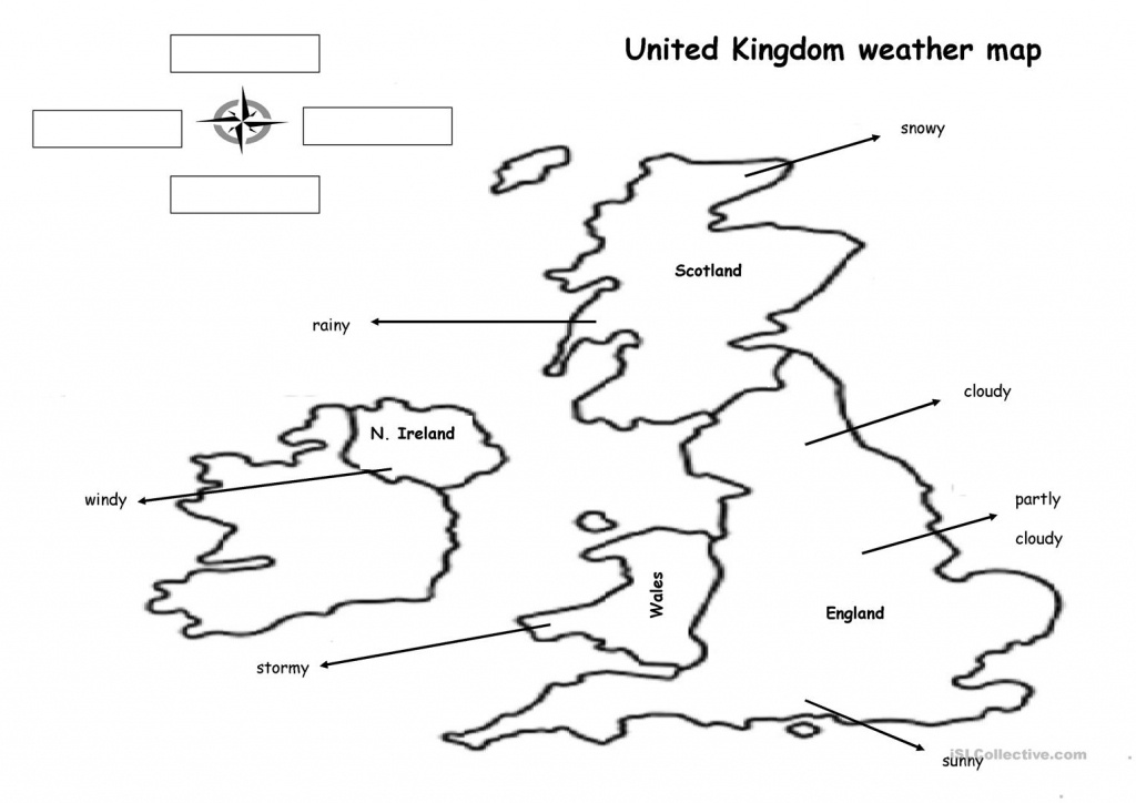 The Weather Map Worksheet - Free Esl Printable Worksheets Made - Weather Map Worksheets Printable