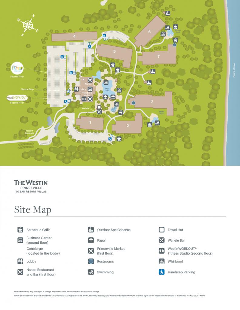 The Westin Princeville Ocean Resort Villas - Starwood Hotels Florida Map