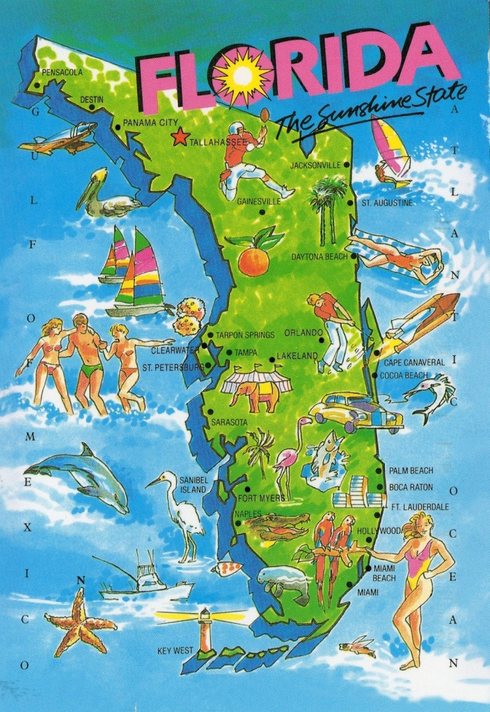 The World In Our Mailbox: Florida Map Card - Florida Vacation Map
