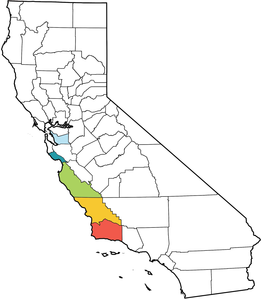 The Xerces Society Where To See Monarchs In California - The Xerces - Monarch Butterfly Migration Map California
