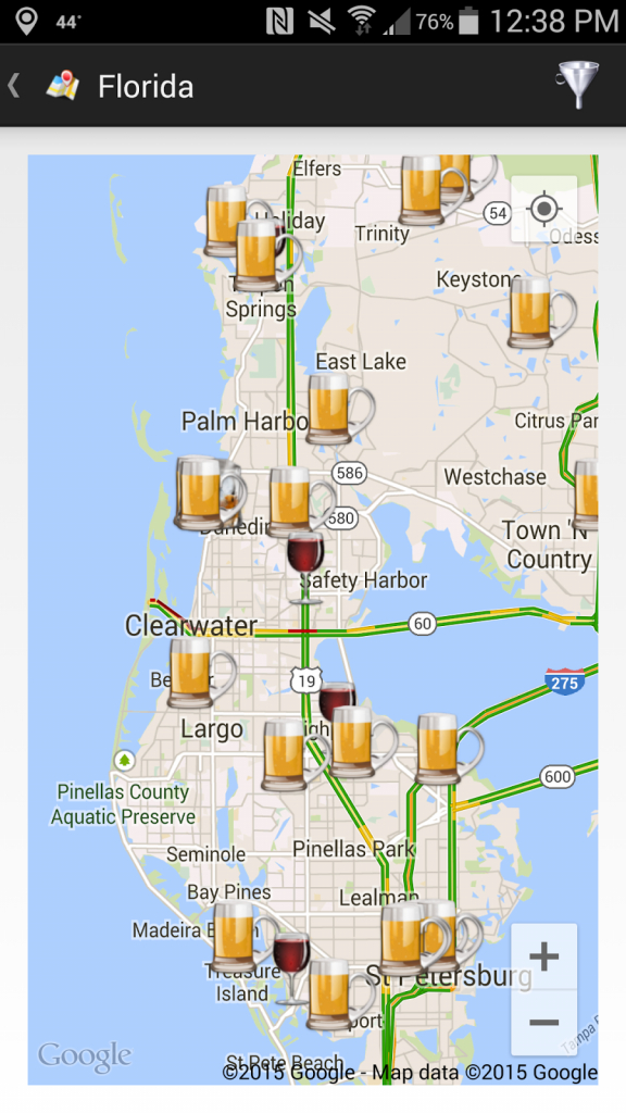 Thecompass Winery Brewery Distillery Locator App's View Of The Fred - Florida Brewery Map