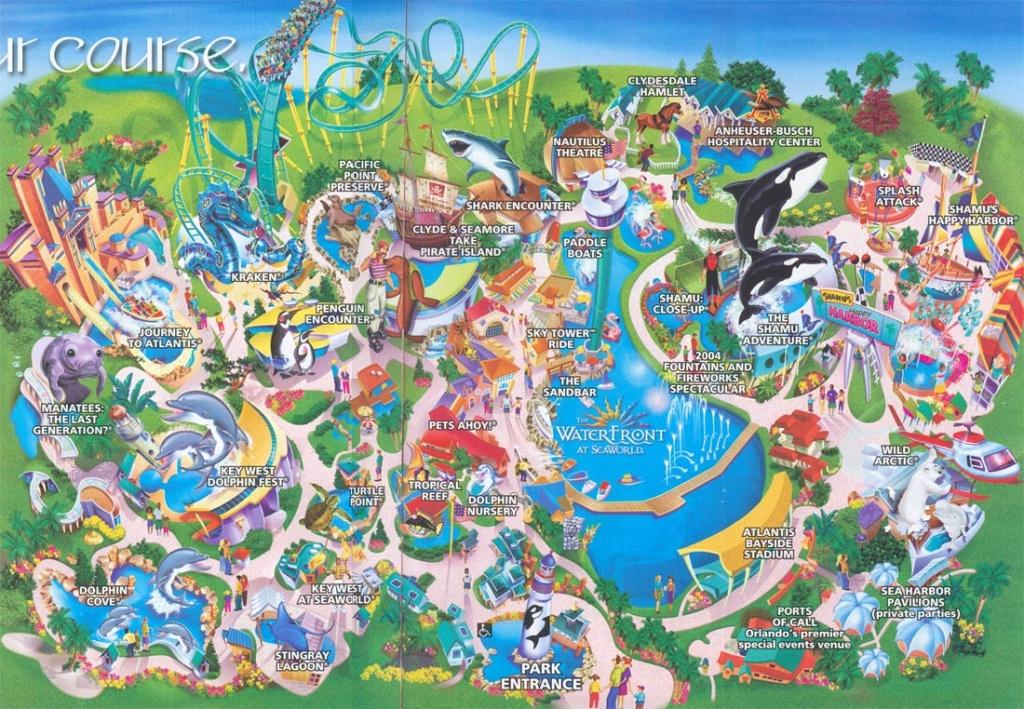 Theme Park Brochures Sea World Orlando - Theme Park Brochures - Florida Sea World Map