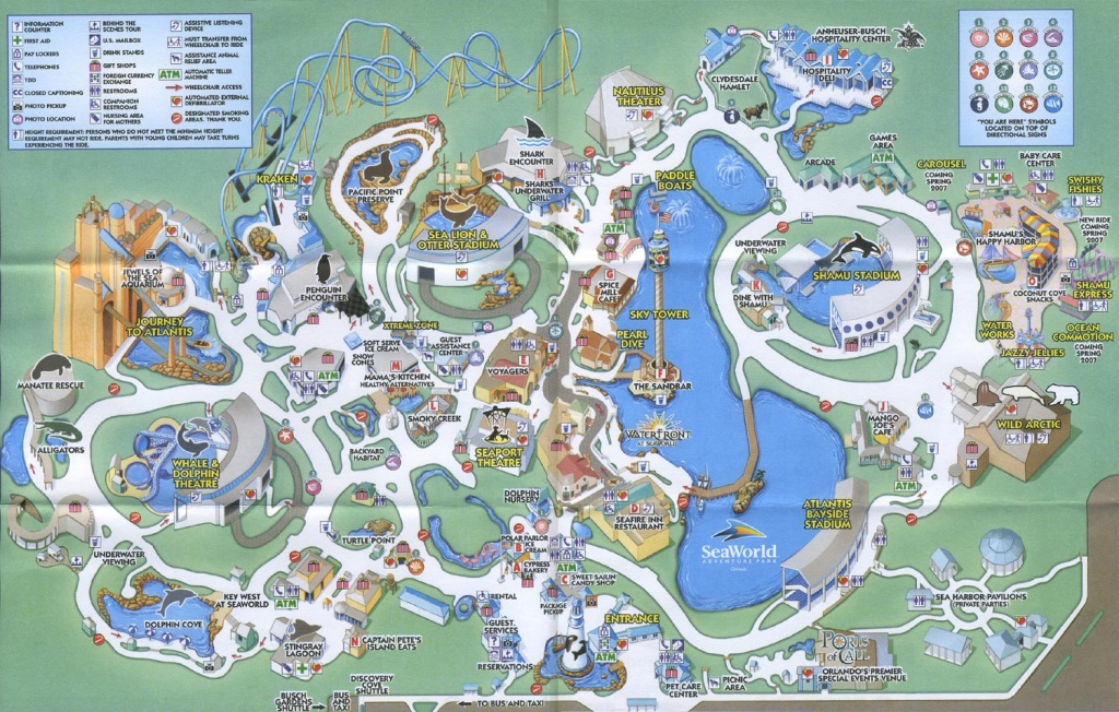 Theme Park Brochures Sea World Orlando - Theme Park Brochures - Seaworld Orlando Map Printable