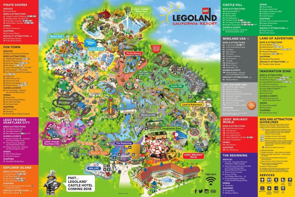 Theme Park Brochures Six Flags Great America In California S Map At - California's Great America Map