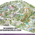 Theme Park Brochures Six Flags Great America In California S Map At   California\'s Great America Map 2018