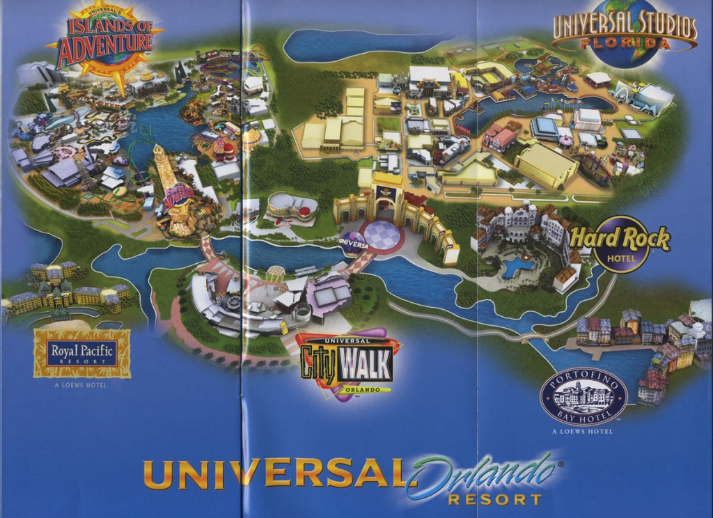 Theme Park Brochures Universal Orlando Resort - Theme Park Brochures - Universal Studios Florida Resort Map