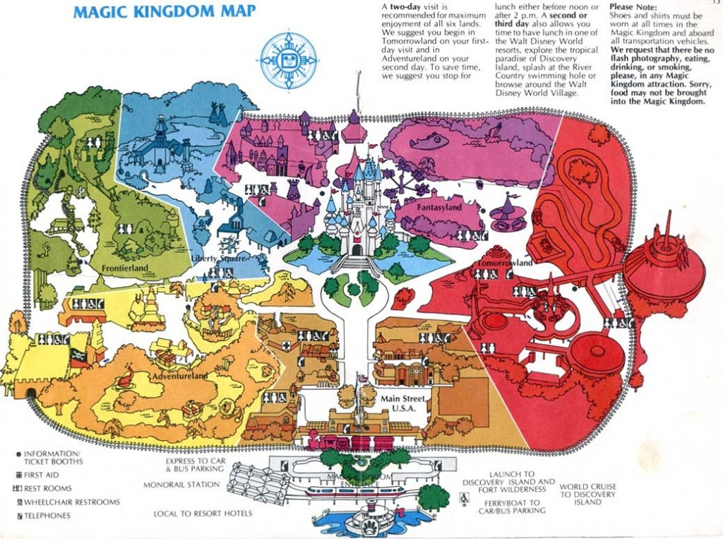 Theme Park Maps – Over The Years | Places I've Been | Disney Map - Magic Kingdom Orlando Florida Map