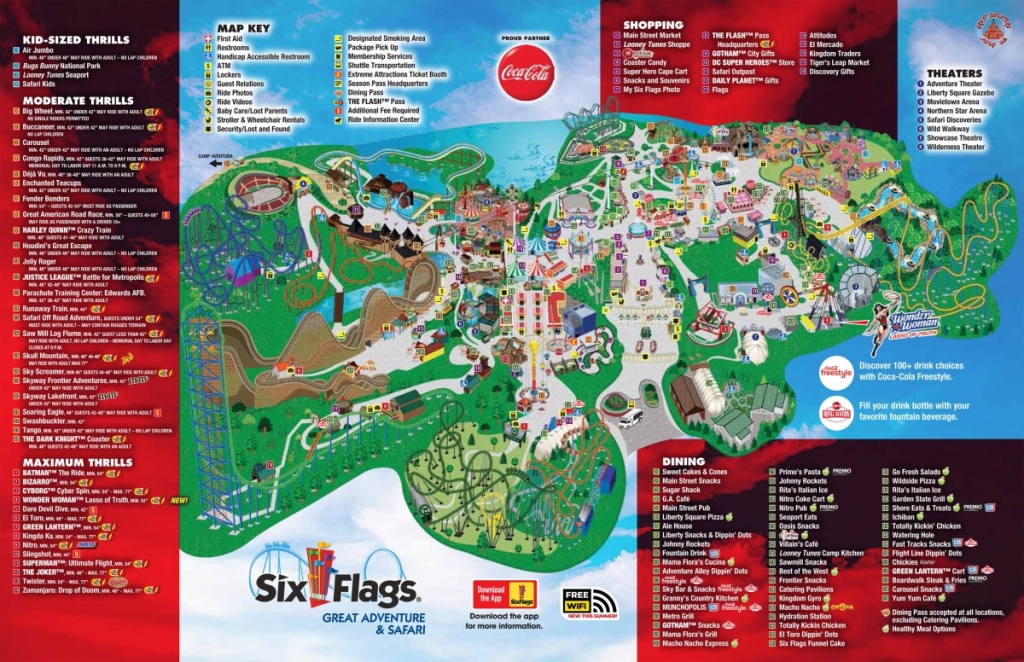 Theme Park Review • Six Flags Great Adventure (Sfgadv) Discussion Thread - Six Flags Fiesta Texas Map 2018