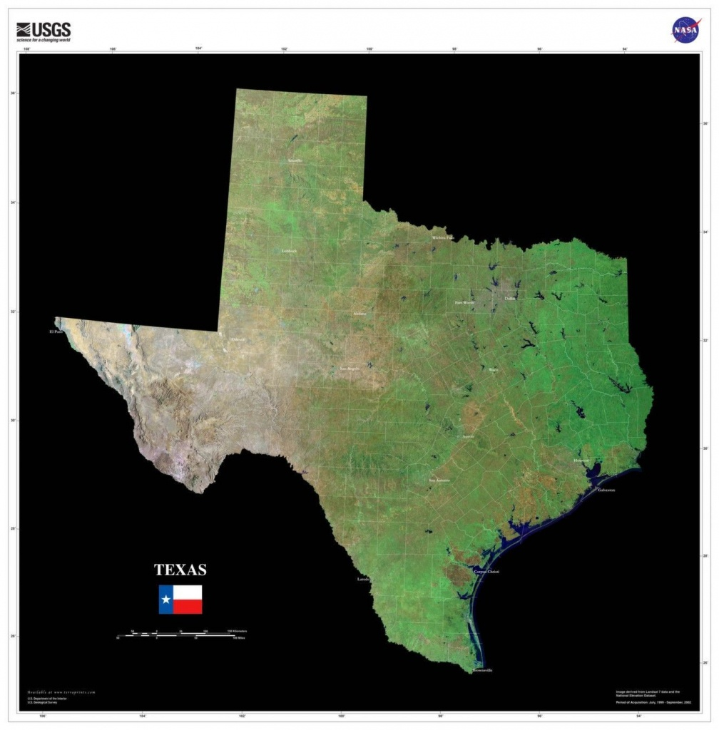 These Us Geological Survey Satellite Maps Were Made With Tri-Decadal - Satellite Map Of Texas
