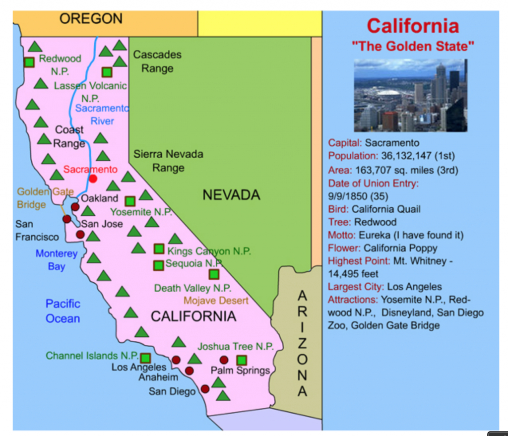This California Interactive Map Is Perfect For Kids! Simply Click On - California Landforms Map