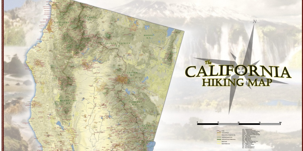 This Gigantic Map Shows Nearly Every Hiking Trail In California - California Hiking Map