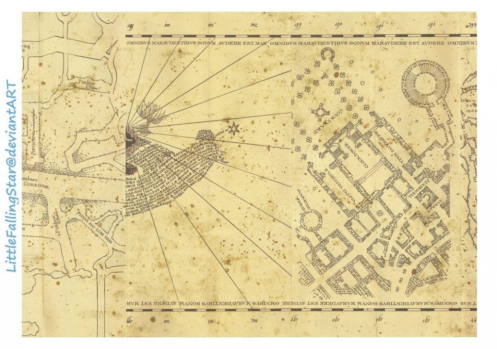 This Is A Copy Of The Marauders Map, 36 Scans Stitched Together In - The Marauders Map Printable