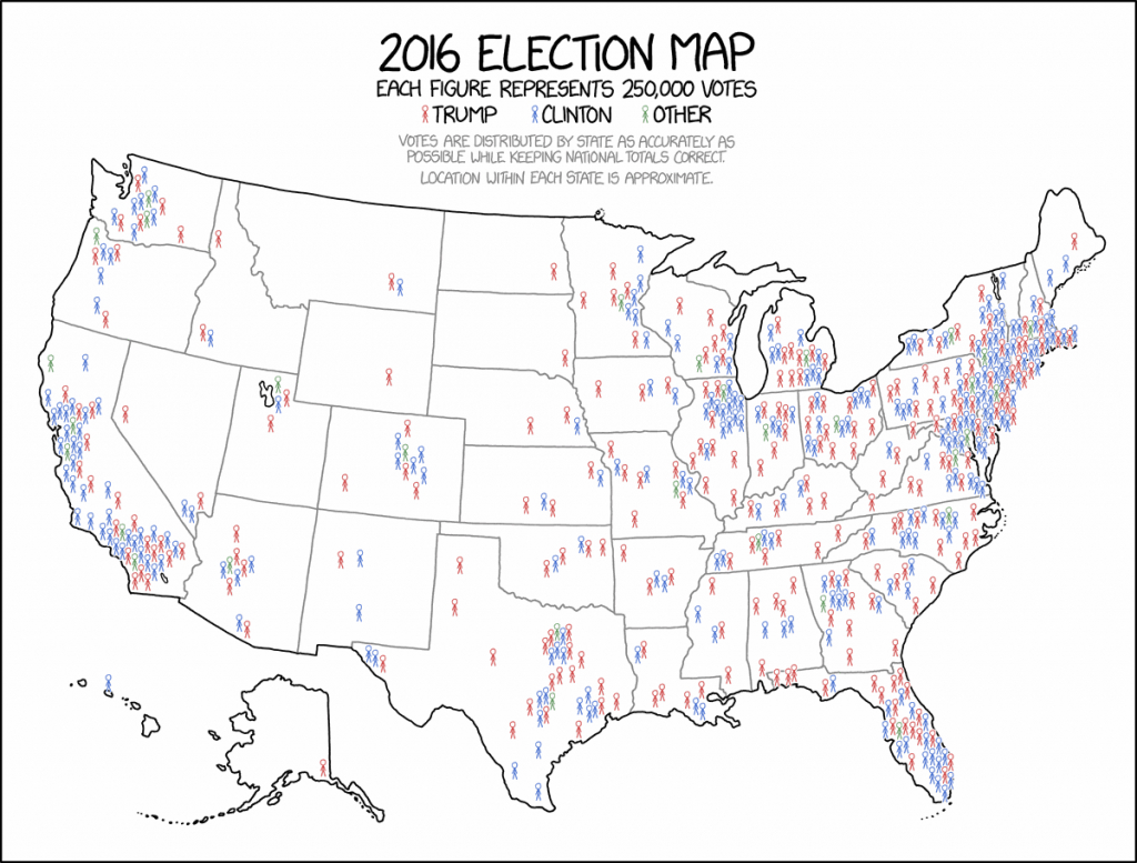 This Might Be The Best Map Of The 2016 Election You Ever See - Vox - Blank Electoral College Map 2016 Printable