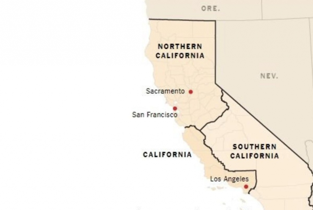 This Plan To Split California Into Three States Just 'cleared Its - New California Map 3 States