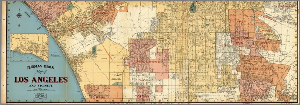 Thomas Bros. Map Of Los Angeles And Vicinity. Venice. Culver City - Thomas Bros Maps California