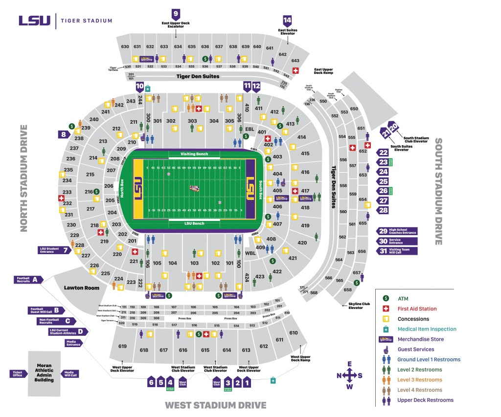 Tiger Stadium Seating Chart - Lsusports - The Official Web Site - University Of Texas Stadium Seating Map