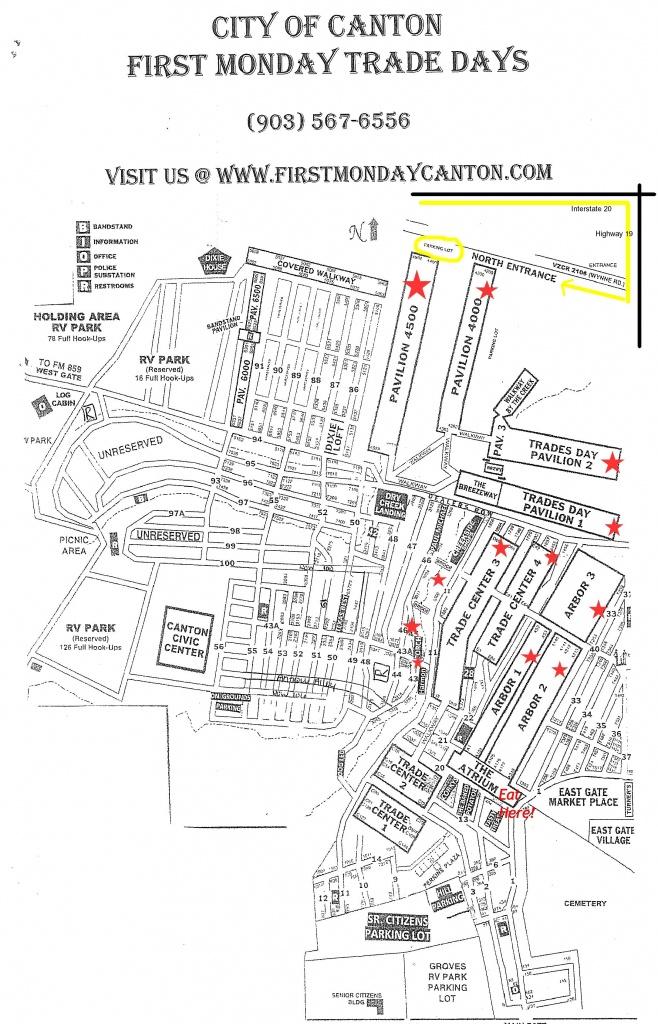 Tips When Visiting Canton First Monday Trade Days | Dallas Moms Blog - Canton Texas Flea Market Map