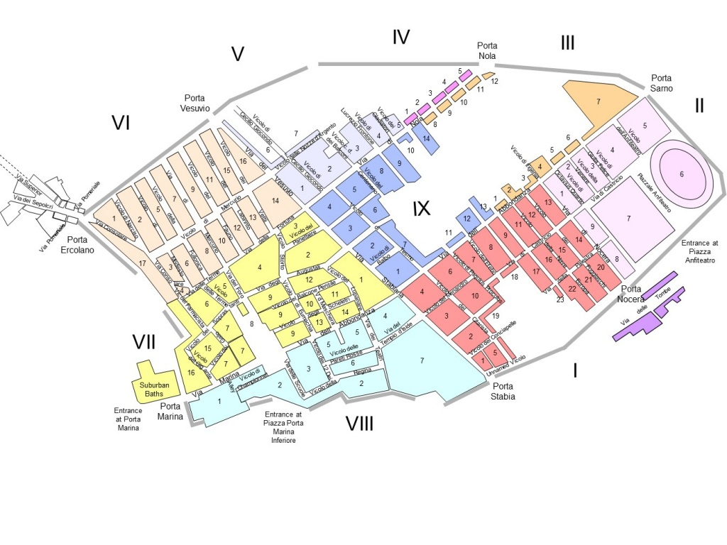 Today - Printable Map Of Pompeii