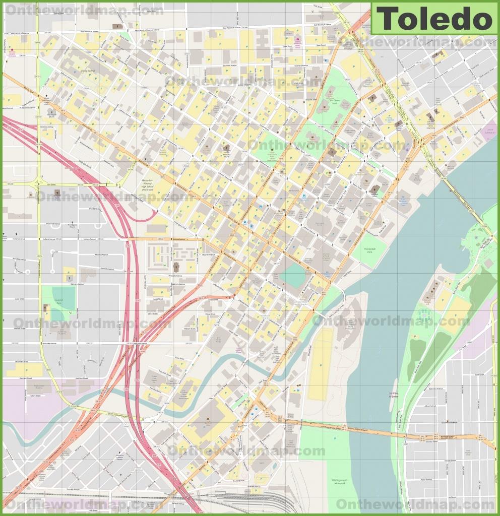 Toledo Downtown Map - Printable Map Of Toledo Ohio