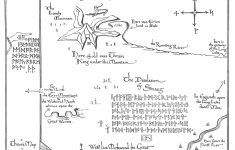 Tolkien Map   Thror's Map   Fantasy Maps   The Hobbit Map, Middle   Thror's Map Printable