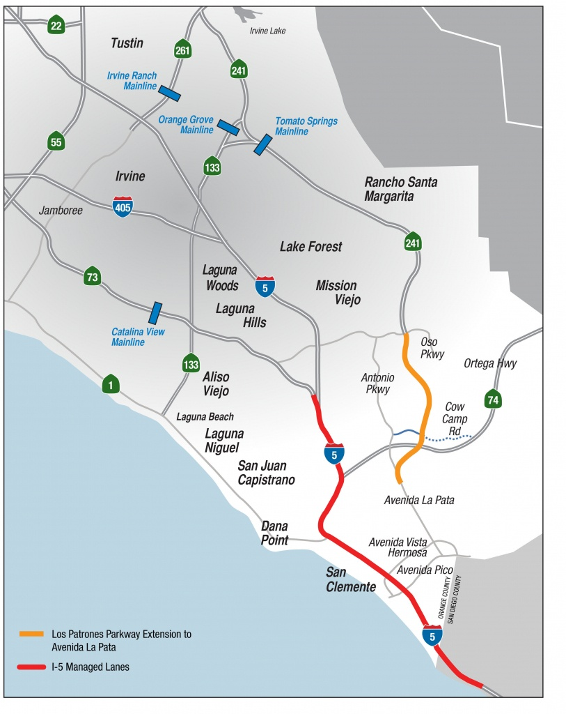 Toll Road Agency Proposes New Transportation Option For South County - Southern California Toll Roads Map