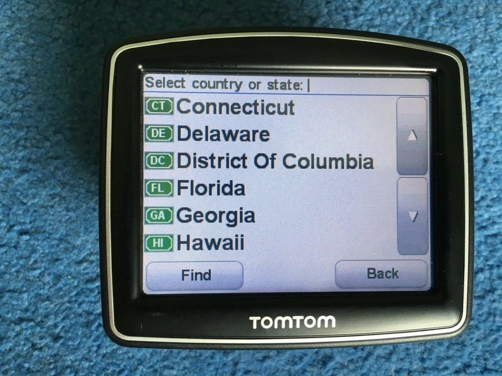 Tomtom One Iq Gps Sat Nav Uk & Usa Maps United States Of America | Ebay - Sat Nav With Florida Maps