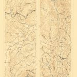 Topographical Map   Mother Lode District California 1899   California Mother Lode Map