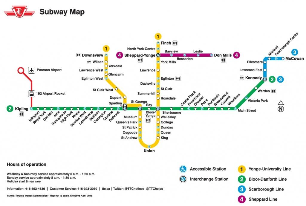 Toronto Subway Map - Toronto Subway Map Printable