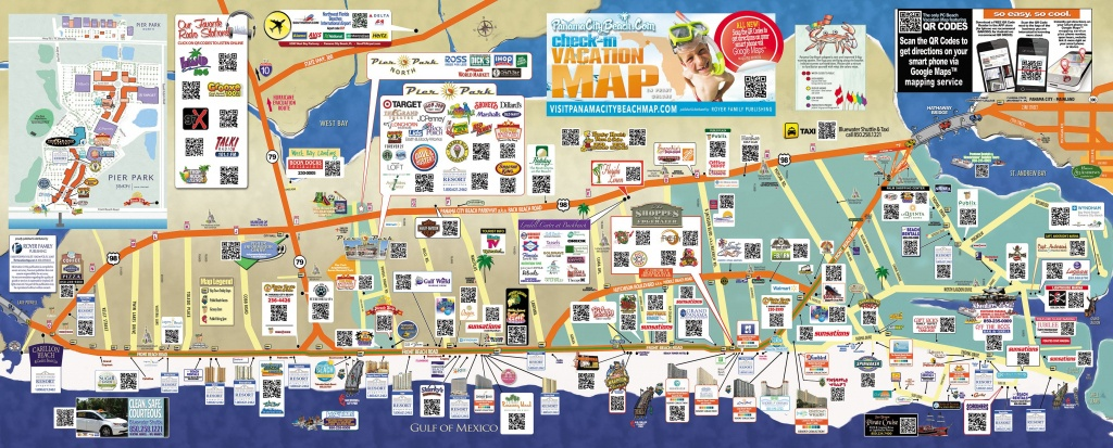 Tourist Map Of Panama City Beach   To The Beach!   Panama City Beach - Panama City And Destin Florida Map