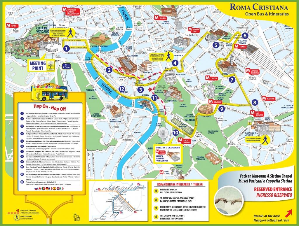 Tourist Map Of Rome City Centre - Roma Texas Map